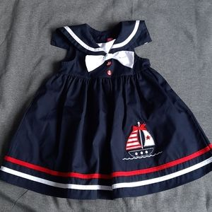 Navy blue Sailboat Dress